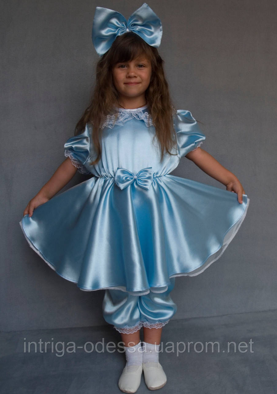Карнавальный костюм Мальвина (голубой)