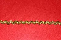 Тесьма декоративная люрекс золото 6145