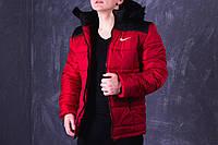 Зимняя красно-черная мужская спортивная куртка Nike