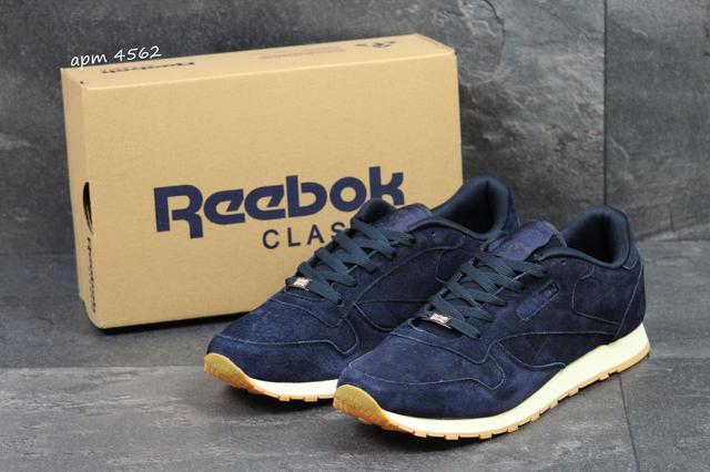9a93ae42371b Кроссовки мужские Reebok Classic,замшевые,темно-синие, 47-50р, цена ...