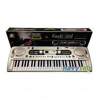 Детский синтезатор пианино - FM радио + микрофон. Работает от сети MQ 020 FM