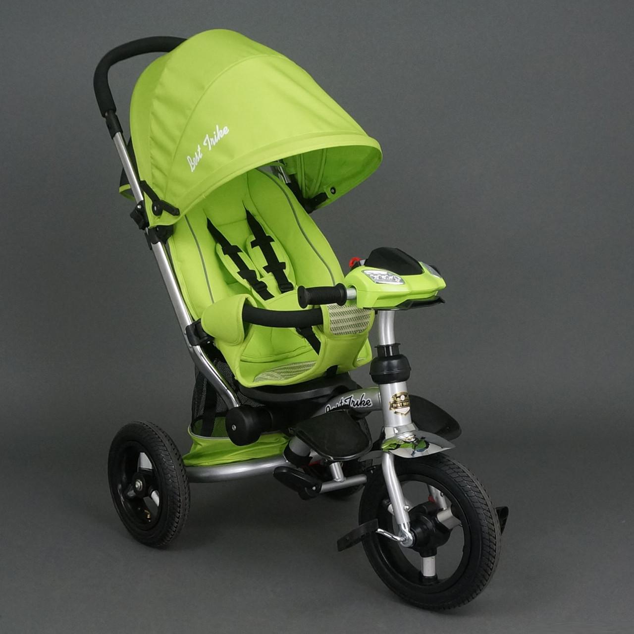 Велосипед-коляска Best Trike 698 с опускающейся спинкой (салатовый)