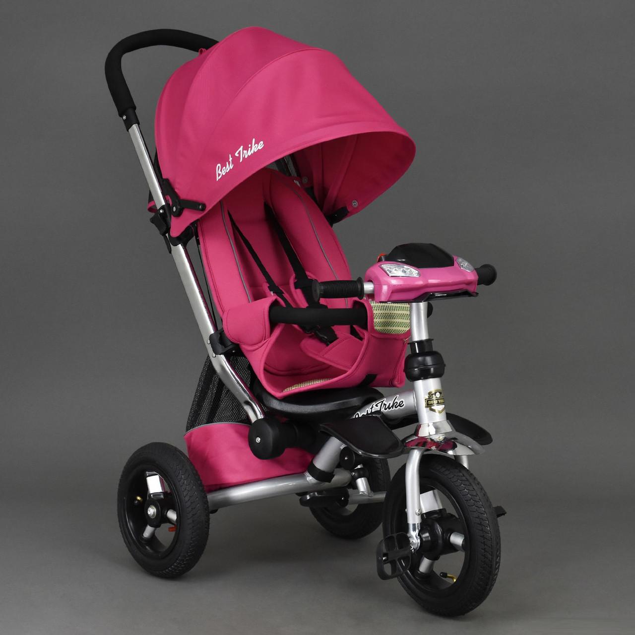 Велосипед-коляска Best Trike 698 с опускающейся спинкой (розовый)