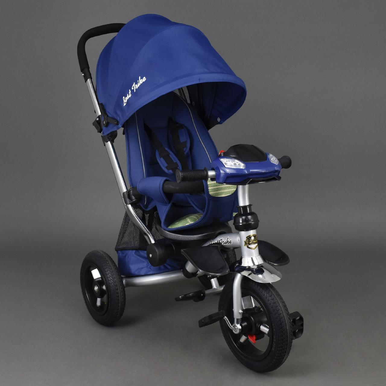 Велосипед-коляска Best Trike 698 с опускающейся спинкой (синий)