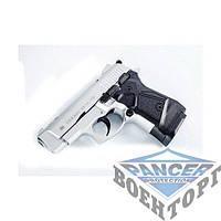 Пистолет стартовый (газо-шумовой) Stalker - 2914 матово хромированое