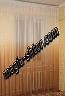 Тюль лен золотая растяжка