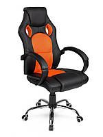 Компьютерное кресло игровое Racer EAGO MASTER оранжевое В НАЛИЧИИ