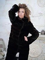 Длинная норковая поперечка шуба женская 42 44 40