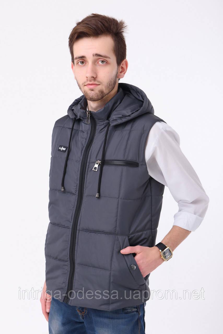 Мужской жилет №1 (серый)