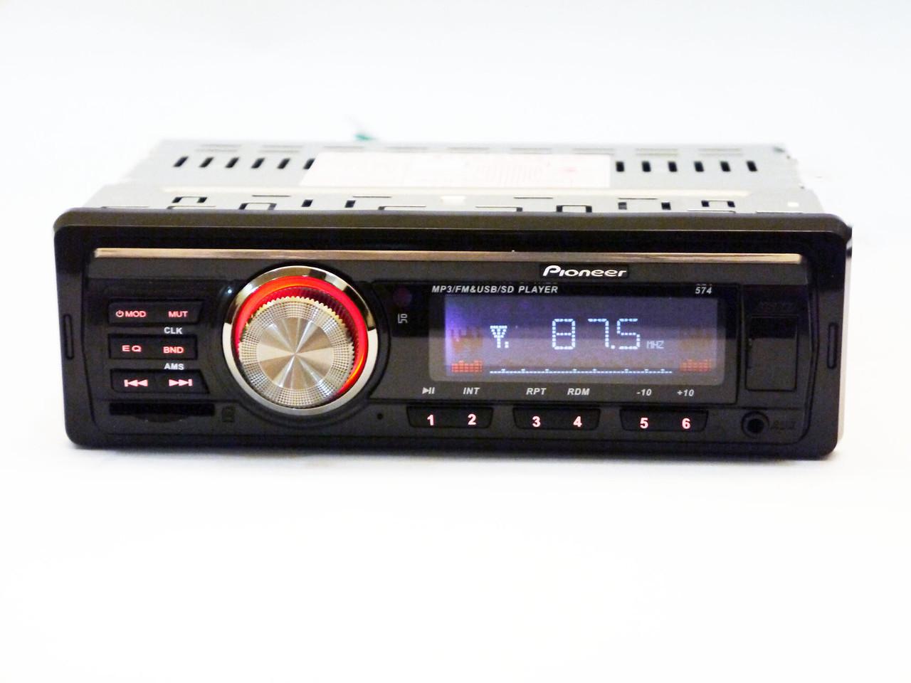 Автомагнитола Pioneer 574 Usb+Sd+Fm+Aux+ пульт