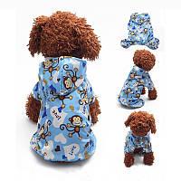 Куртка дождевик для собак мелких пород Monkey