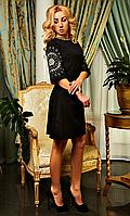 """Женское весеннее платье """"Шерон"""" (черный)"""