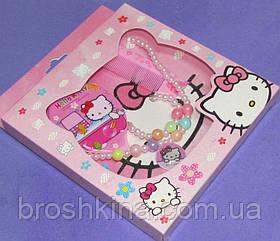Набор детской бижутерии Китти в коробке