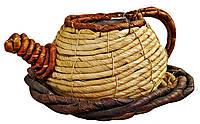 Чайник  из лозы натуральная 16 см