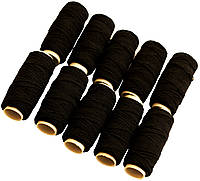Нитка-резинка (10 катушек) черная, фото 1