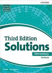 Solutions 3rd Edition Elementary Workbook (Рабочая тетрадь)