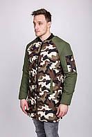 Куртка мужская камуфляжная ( бомбер) осень -весна