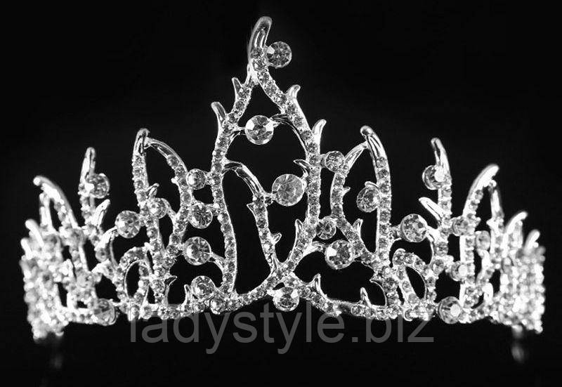 """Оригинальная серебристая  диадема """"Снежная Королева"""" от студии LadyStyle.Biz"""