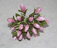 """Букетик из ткани """"Тюльпаны"""" розовый 4038-8"""