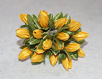 """Букетик из ткани """"Тюльпаны"""" жёлтый 4038-9, фото 1"""