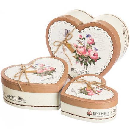 "Набор подарочных коробок 3 штуки "" Best Wishes "", фото 2"