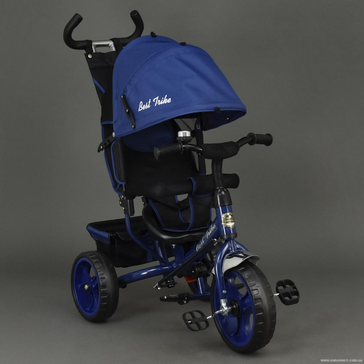 Детский трехколесный велосипед Best Trike 6570 синий (колеса пена)