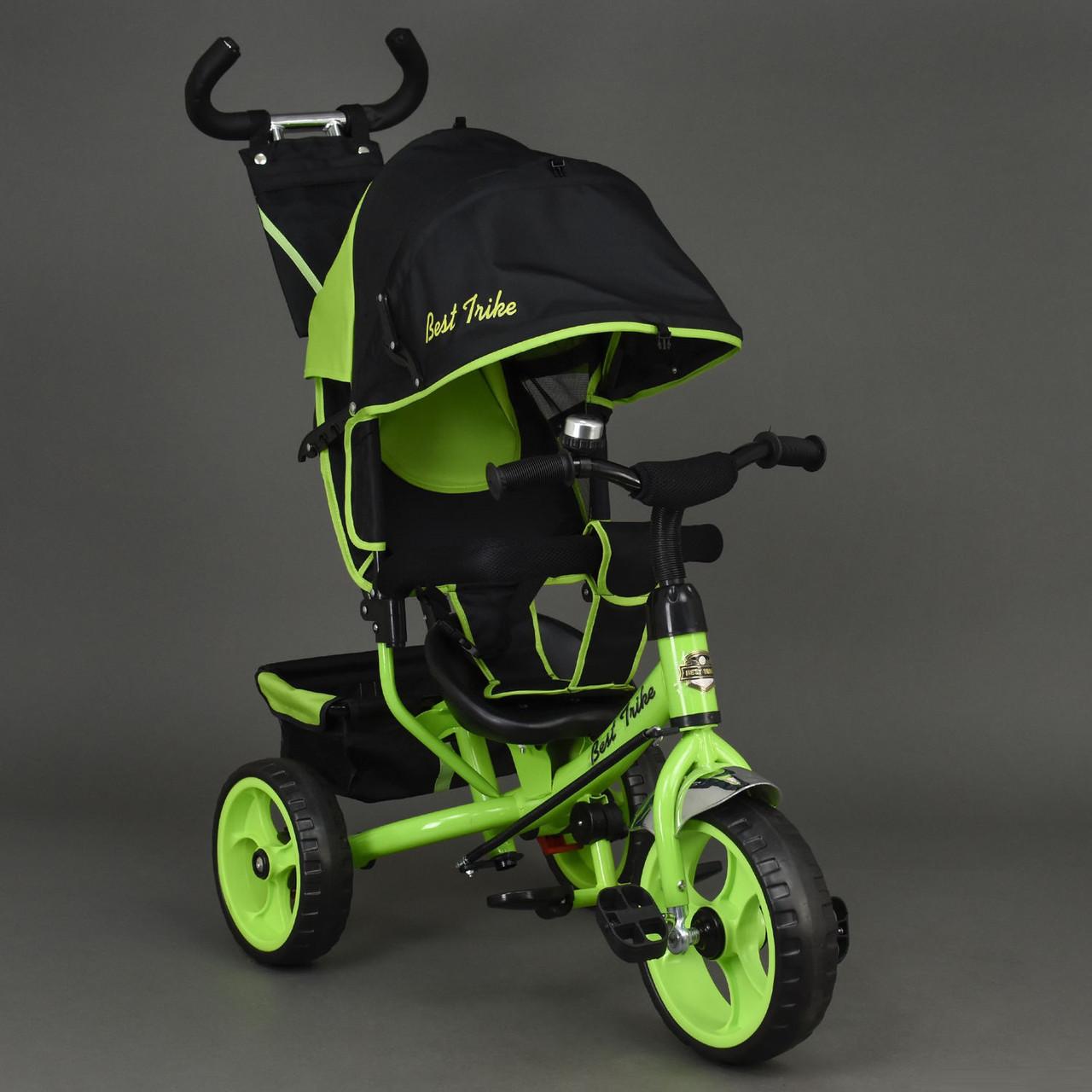 Детский трехколесный велосипед Best Trike 6570 салатовый (колеса пена)