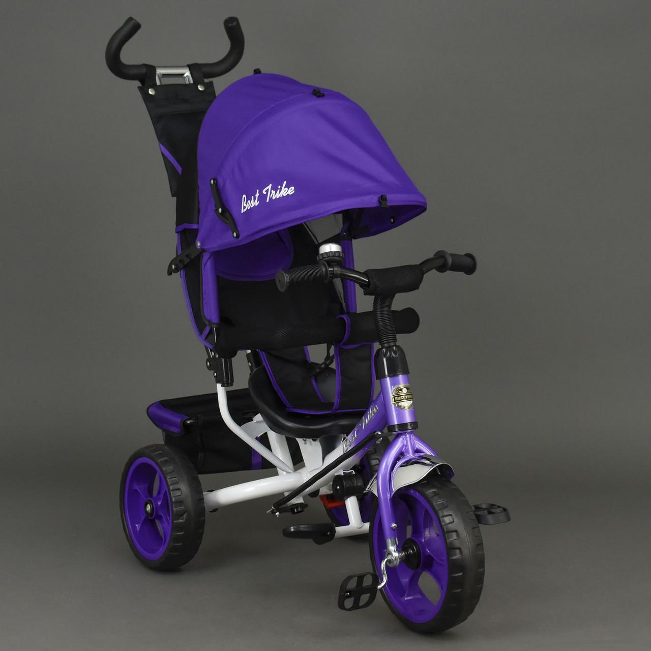 Детский трехколесный велосипед Best Trike 6570 фиолетовый (колеса пена