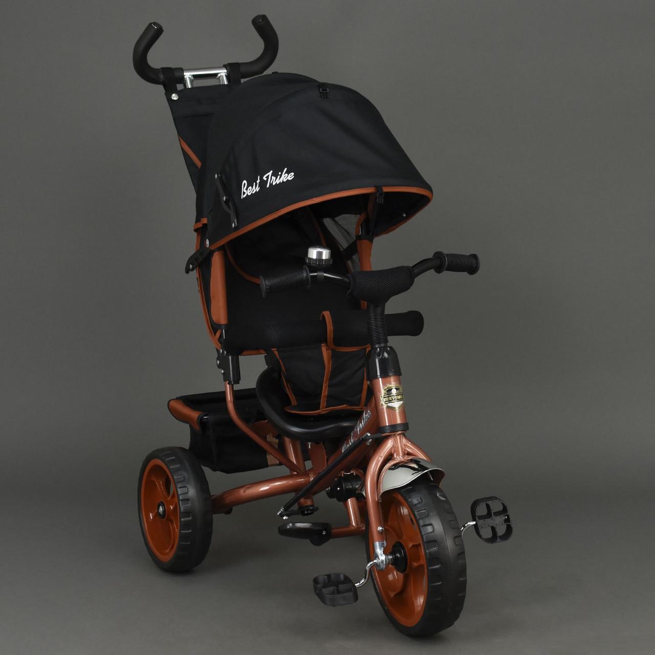 Детский трехколесный велосипед Best Trike 6570 бронзовый (колеса пена)