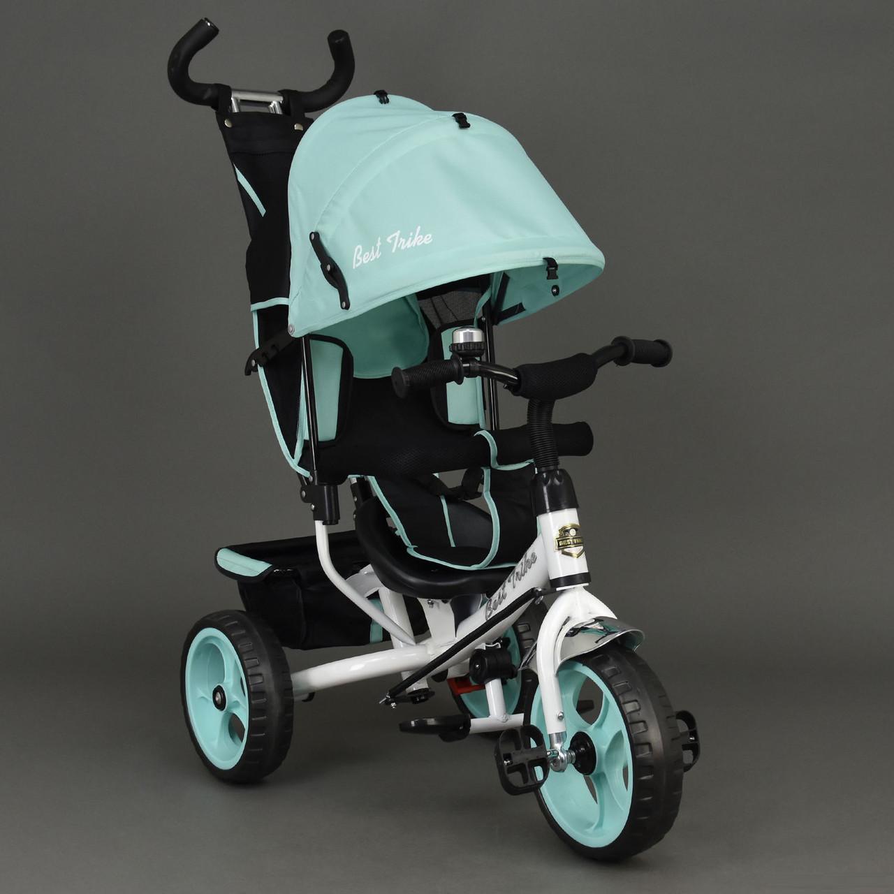 Детский трехколесный велосипед Best Trike 6570 бирюзовый (колеса пена)