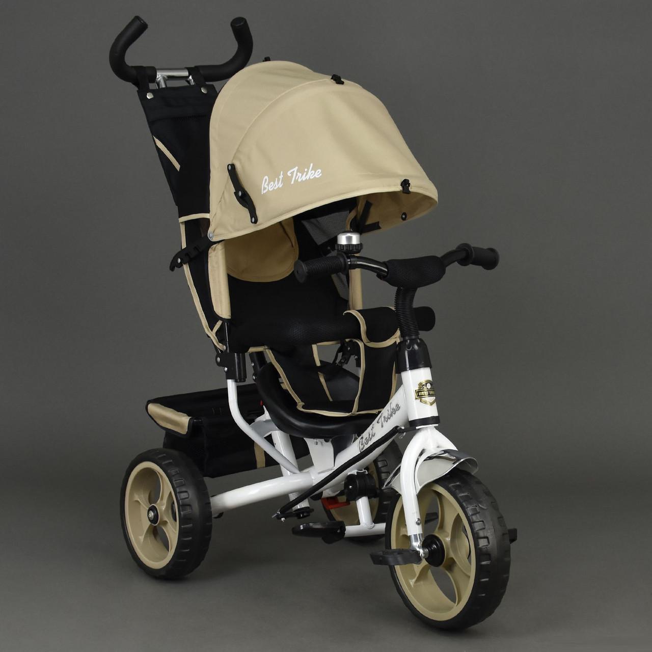 Детский трехколесный велосипед Best Trike 6570 бежевый (колеса пена)