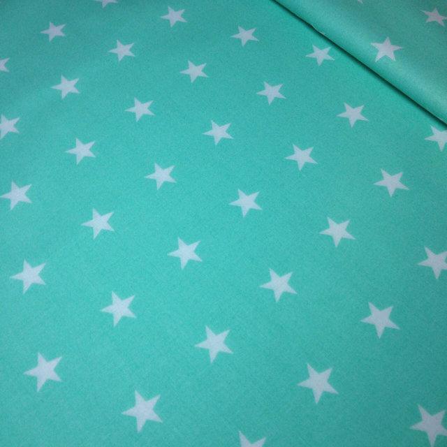 """Ранфорс """"звезды на мятном"""" 220 см"""