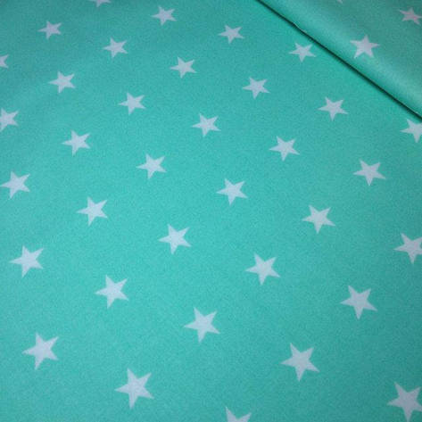 "Ранфорс ""звезды на мятном"" 220 см, фото 2"