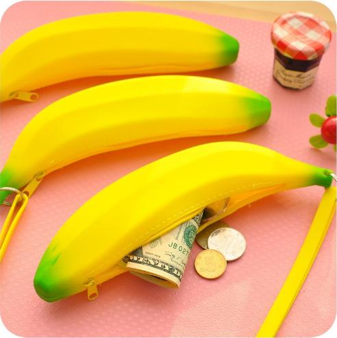 Силиконовый пенал банан, ключница