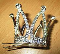 """Хорошенькая серебристая  корона """"Золушка"""" от студии LadyStyle.Biz"""