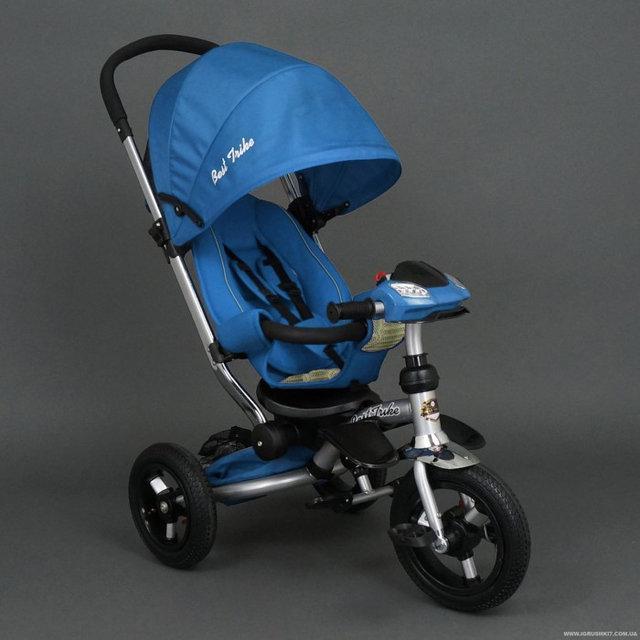 Велосипед-коляска Best Trike 698 с опускающейся спинкой (голубой)