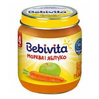 Овощное пюре Bebivita Морковь и яблоко, 125 г 1849 ТМ: Bebivita