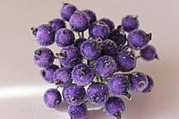 Сахарные ягодки 38-40 ягод/уп. фиолетового цвета