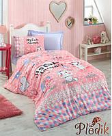 Подростковое постельное белье Cotton Box ANIMALS PEMBE