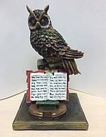 "Статуэтка ""Сова на книгах"" СП205. Символ мудрости, фото 1"