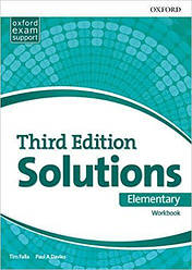 Solutions 3rd Edition Elementary Workbook Ukraine (Рабочая тетрадь)