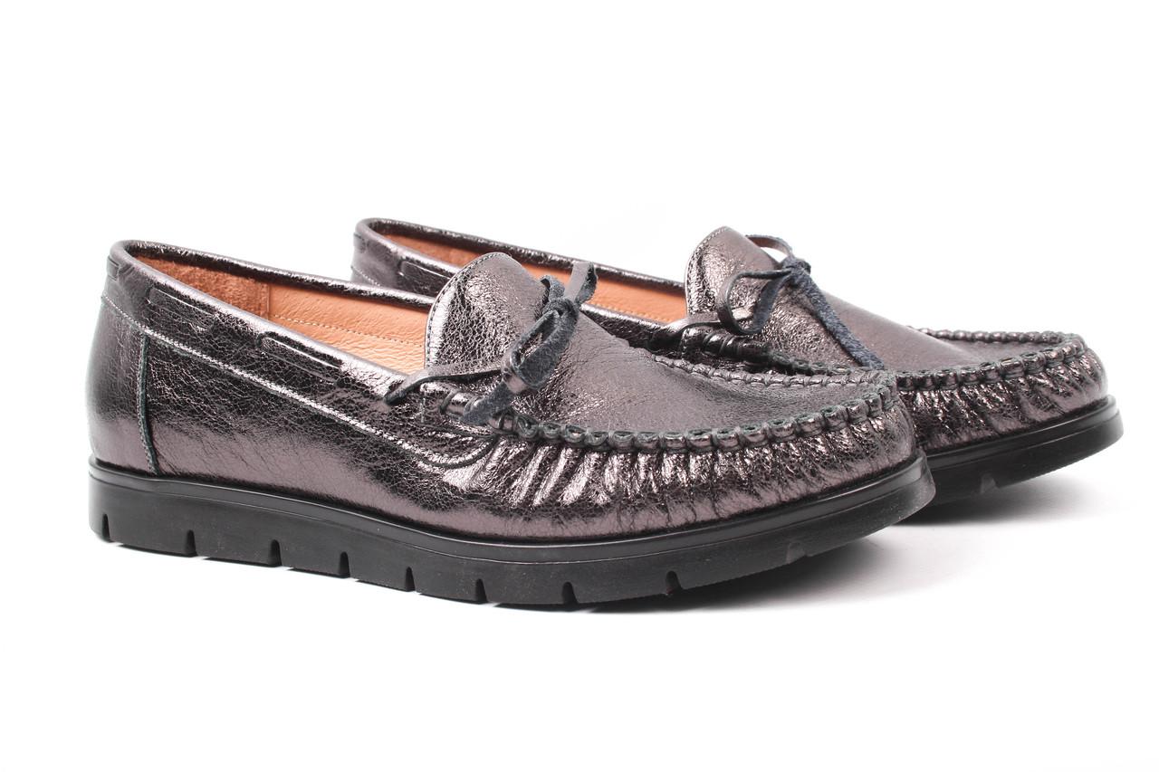 Туфли женские Sempre натуральная кожа, цвет бронза (платформа, стильные, комфорт, Польша)