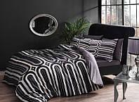 Комплект постельного белья TAC Сатин де люкс CLOUD V01 серый