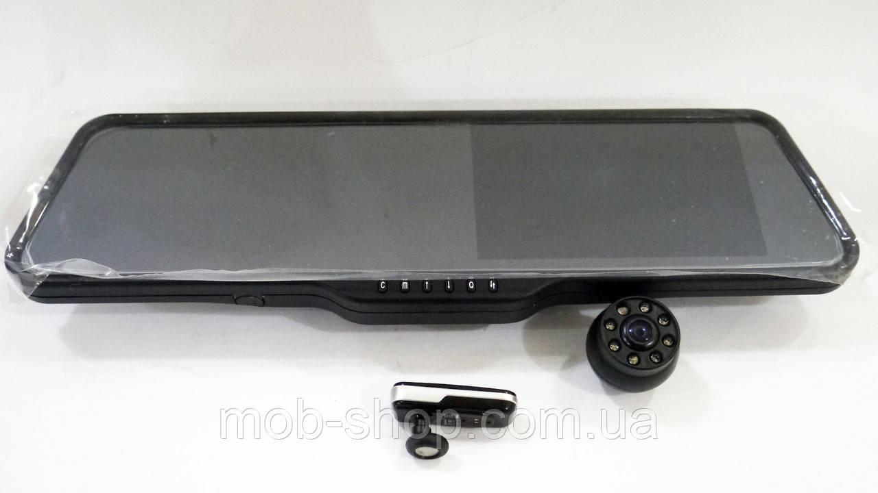 """Автомобильный регистратор-зеркало DVR LS516 Full HD 5"""" + камера заднего вида + Bluetooth гарнитура"""