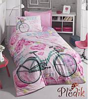 Подростковое постельное белье Cotton Box BIKE PEMBE