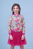 Комплект бомбер и юбка-для девочки Тропики 8002-2 (р.134,140,152,158,164)
