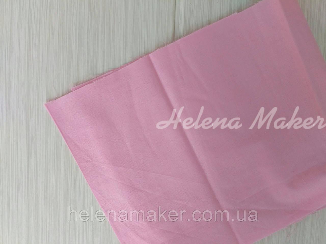 Хлопок однотонный розовый  50*50 см