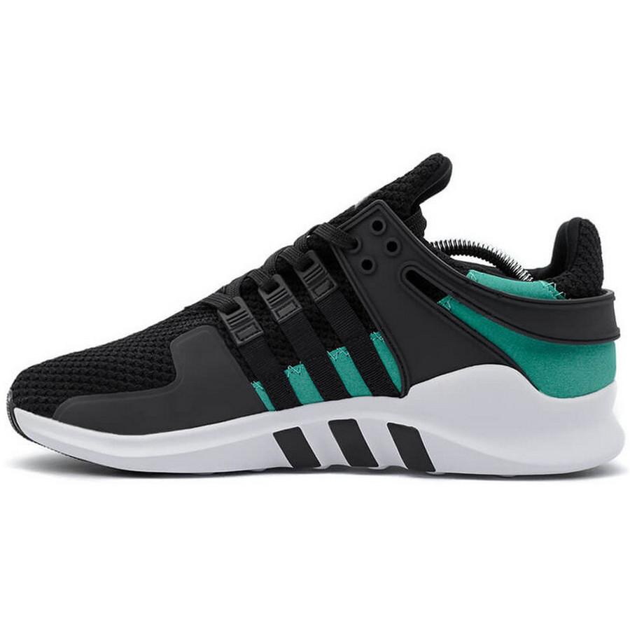 20a986f8 Кроссовки мужские Adidas EQT (черные-зеленые) Top replic - BE SMILE  молодежный интернет