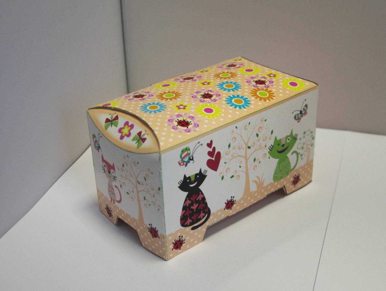 Изготовление картонной упаковки Сундучок, 150-300г