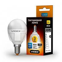 LED лампа VIDEX G45 6W E14 3000K 220V